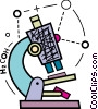 Colorful microscope Vector Clipart illustration