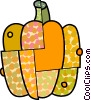Vector Clip Art graphic  of a Colorful pumpkin