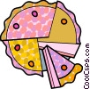Vector Clip Art picture  of a Piece of cake