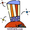 Uncle Sam's hat and fireworks Vector Clip Art picture