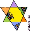 Vector Clipart graphic  of a Star of David