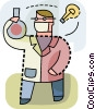 Scientist working on an idea Vector Clip Art picture