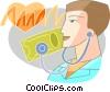 Vector Clip Art image  of a Doctors