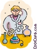 Chemist working Vector Clipart picture