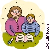Vector Clip Art image  of a Students