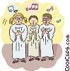 Choir singing Vector Clip Art image