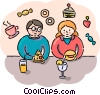 Vector Clip Art graphic  of a Lunch