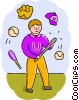 Vector Clip Art graphic  of a Baseball Players
