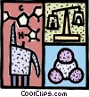 Chemist doing research Vector Clipart picture