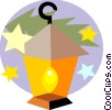 Christmas lantern Vector Clipart picture
