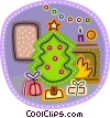 Vector Clipart graphic  of a Christmas Trees
