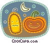 Jack-o-lanterns Vector Clipart graphic