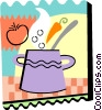 Vector Clipart picture  of a Homemade soup