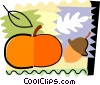 Vector Clipart illustration  of a Pumpkin and acorn