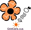 Daisy with sun and 02 Vector Clip Art image