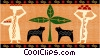 Vector Clip Art graphic  of an Africa
