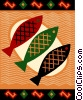 Fish dinner Vector Clip Art image