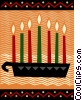 Vector Clipart illustration  of a Menorahs