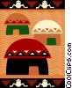 Mud Huts Vector Clipart graphic