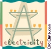 Vector Clipart illustration  of a Hydro Towers
