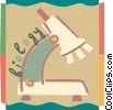 Vector Clip Art graphic  of a Microscopes