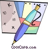 Vector Clip Art graphic  of a Ballpoint Pens
