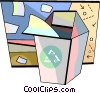 Vector Clip Art image  of a Blue Boxes or Recycle Box