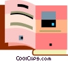 Opened Book Vector Clip Art picture