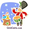 Christmas Presents with toy soldier Vector Clipart image