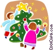 Vector Clipart image  of a Christmas Trees