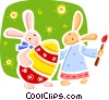 Vector Clipart picture  of a Easter Bunny