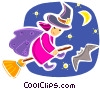 Vector Clip Art picture  of a Witches