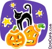 Vector Clipart graphic  of a Black Cats