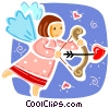 Vector Clipart image  of a Cupid
