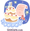 Vector Clipart illustration  of a Cakes