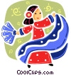 Mexican flamenco dancer Vector Clipart picture