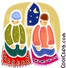 Islamic Prayer Vector Clip Art picture