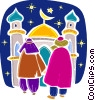 Vector Clip Art graphic  of a Priests and Ministers