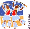 International Exotic dancers Vector Clipart picture