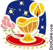 Chalice with flower Vector Clipart illustration