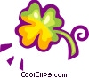 Four leaf clover Vector Clipart illustration