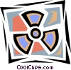 Vector Clip Art image  of a Radio active symbol