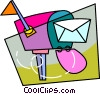 Vector Clipart picture  of a Mailbox with letter