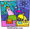 Vector Clipart illustration  of a Scientist doing some research