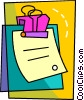 Vector Clip Art graphic  of a Colorful clipboard