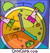 Vector Clipart image  of a Time concept