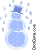 Vector Clipart image  of a Snowman wearing a hat with