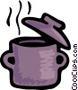 Vector Clipart image  of a Boiling pot of soup