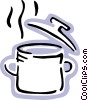 Boiling pot of soup Vector Clipart picture