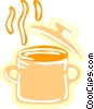 Boiling pot of soup Vector Clipart illustration